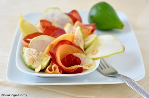 Bresaola con carpaccio di frutta