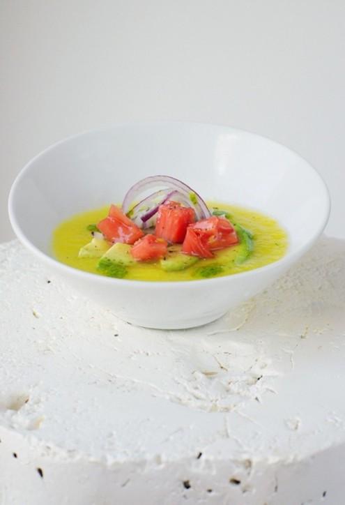 Gazpacho di pomodoro giallo