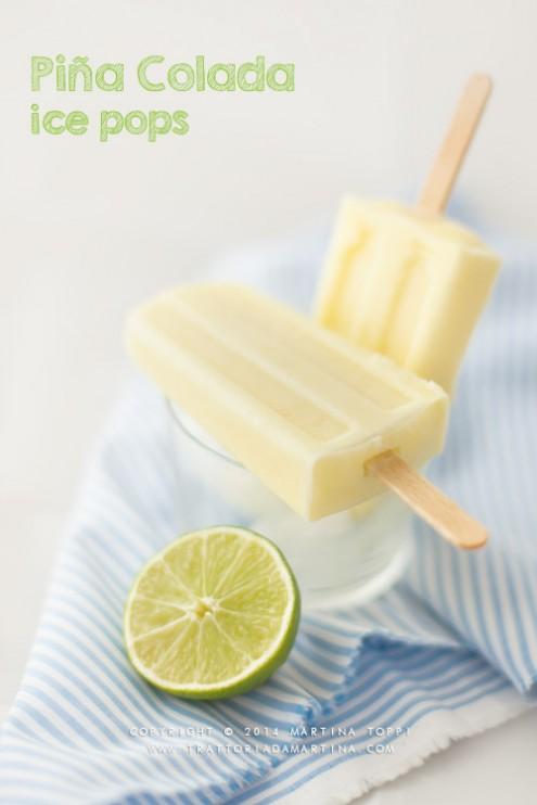 Piña colada ice pops