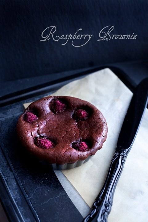 Brownie cioccolato e lamponi