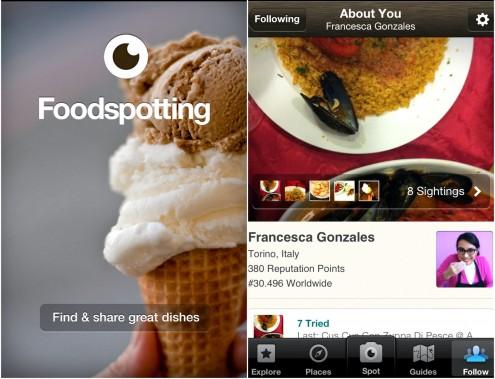 il mio profilo sul social network foodspotting
