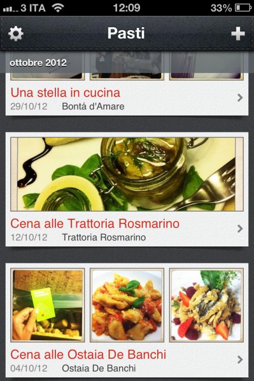 Gli appunti delle mie cene in Liguria