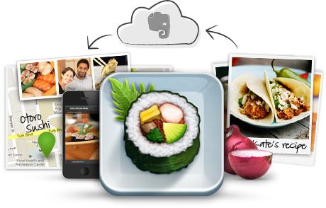 applicazione Evernote Food
