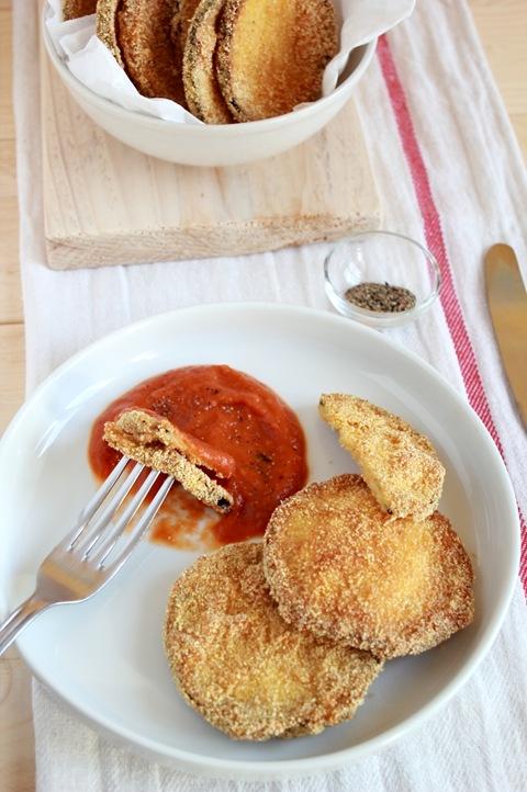 melanzane e salsa al finocchio