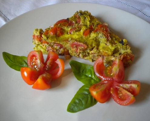 Sformato di broccoli e ciliegino