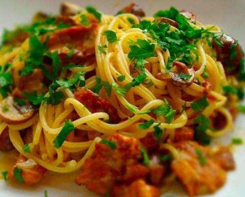 honest cooking ricetta pasta con finferli e porcini