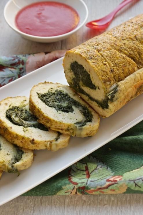 Arrosto vegetariano ricotta e spinaci