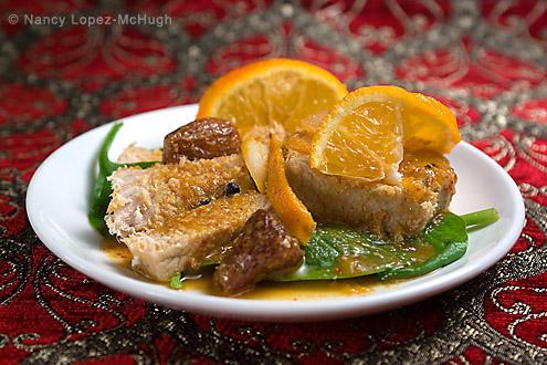 Maiale in salsa di mandarino