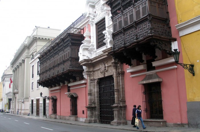 Palacio de Torre Tagle, sede del Ministerio de Asuntos Exteriores de la República de Perú.