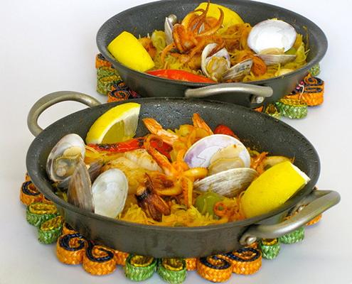 Paella marinara con spaghetti squash