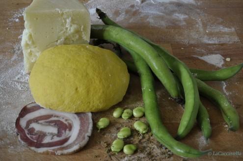 fave, pecorino, pancetta,lacaccavella