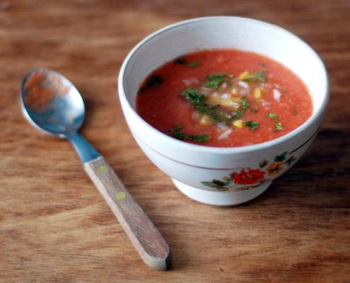 Zuppa di anguria Gazpacho
