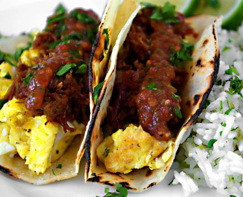 Tacos di carne di maiale
