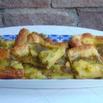 Sfogliata con pesto e patate