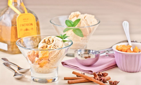 Spice Roasted Pineapple Ice Cream