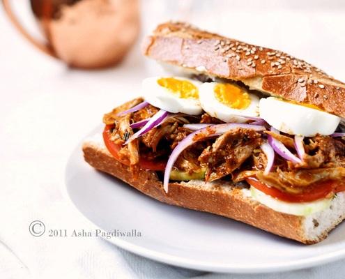 Sandwich con Pollo Tandoori