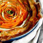 Crostata di verdure a spirale